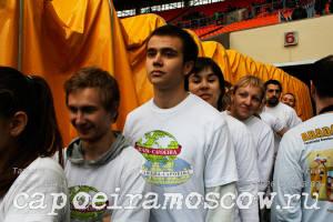 Выступление на стадионе Лужники, перед проведением футбольного матча